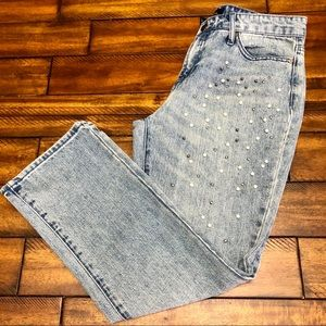 Who What Wear Embellished High Rise Jeans 4